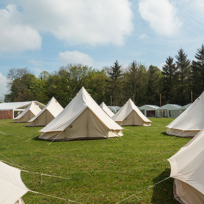 Bell Tents at The Badminton Retreat, Glamping accommodation at Badminton Horse Trials