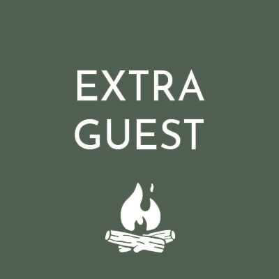 Extra Guest for The Retreat Glamping - with The Retreat camp fire logo icon