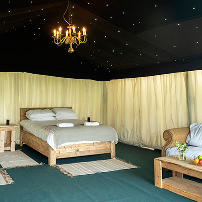 Safari tent at The Retreat - Luxury Glamping accommodation for Badminton Horse Trails