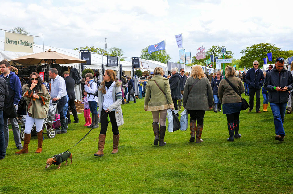 A view of the famous Shopping Village at Badminton Horse Trials