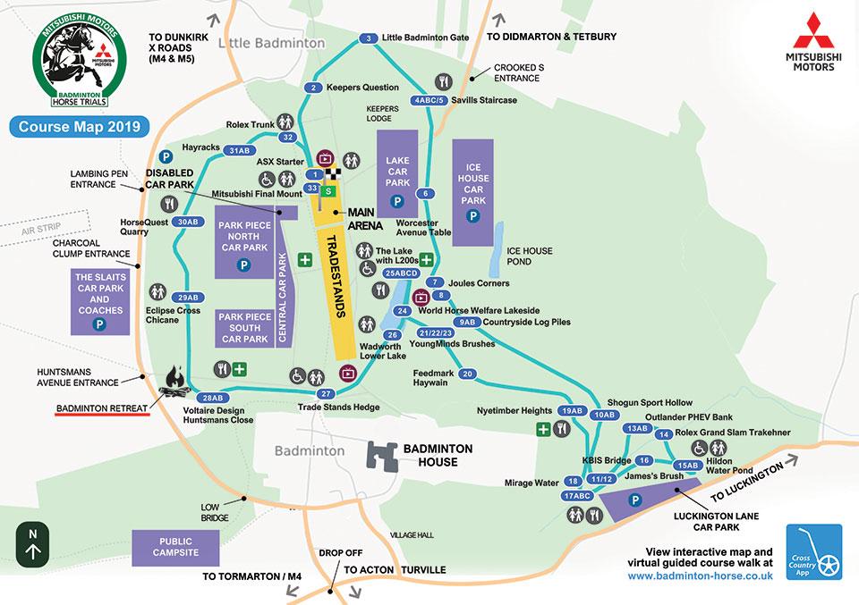 Badminton International Cross Country Course 2019 Map