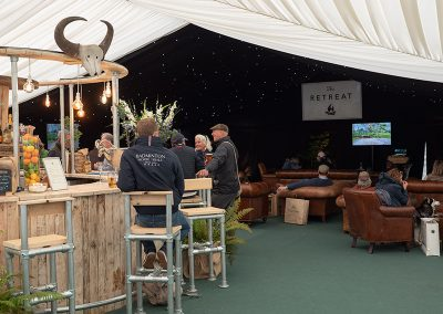 A busy bar and lounge at The Badminton Retreat