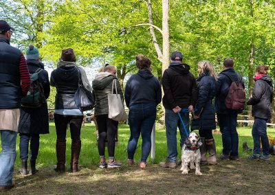 Spectators at Huntsman's Close on the Cross Country course