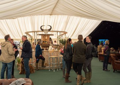 A busy bar at The Badminton Retreat, glamping at Badminton